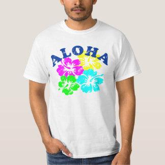 Colorful Aloha Vintage T-Shirt Hawaiian Flowers
