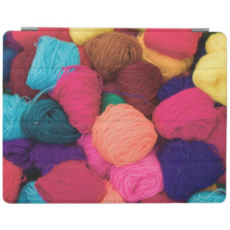 Colorful Alpaca Wool, Huaraz, Cordillera Blanca iPad Cover