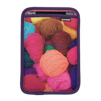 Colorful Alpaca Wool, Huaraz, Cordillera Blanca iPad Mini Sleeve