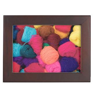 Colorful Alpaca Wool, Huaraz, Cordillera Blanca Keepsake Box