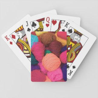 Colorful Alpaca Wool, Huaraz, Cordillera Blanca Playing Cards