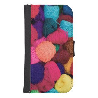 Colorful Alpaca Wool, Huaraz, Cordillera Blanca Samsung S4 Wallet Case