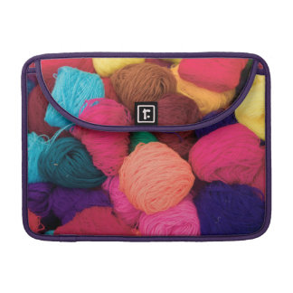 Colorful Alpaca Wool, Huaraz, Cordillera Blanca Sleeve For MacBook Pro