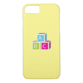 Colorful Alphabet blocks iPhone 7 Case