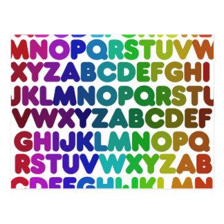 Colorful Alphabet for a TEACHER Postcard
