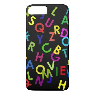 colorful alphabet letters over black iPhone 7 plus case