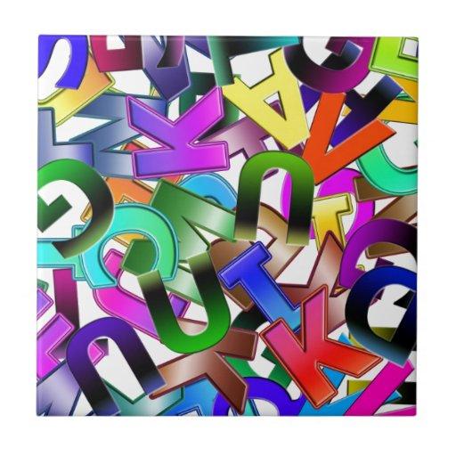 Colorful Alphabet Tile
