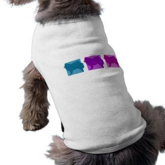 Colorful American Eskimo Dog Silhouettes Pet Tee