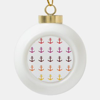 Colorful anchor pattern ceramic ball decoration