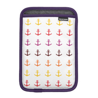 Colorful anchor pattern iPad mini sleeve