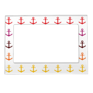 Colorful anchor pattern magnetic frame