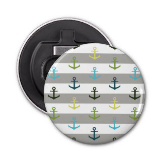 Colorful anchor pattern on stripy background
