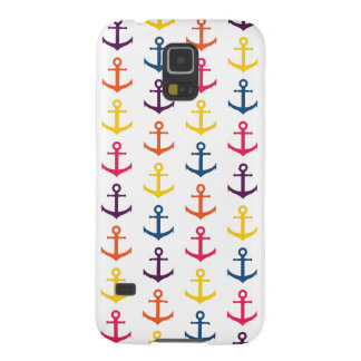 Colorful anchors pattern galaxy s5 case