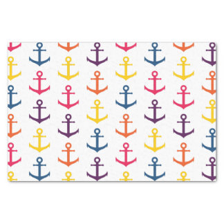 Colorful anchors pattern tissue paper