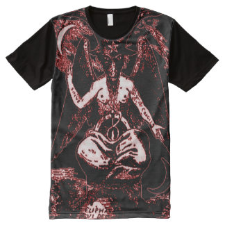 Colorful Ancient Baphomet Blood God All-Over Print T-Shirt