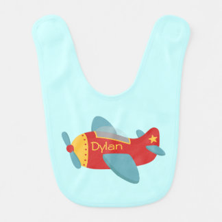 Colorful and Adorable Cartoon Aeroplane Baby Bibs