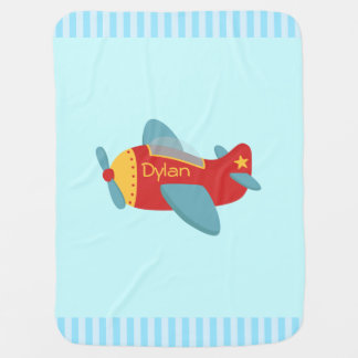 Colorful and Adorable Cartoon Aeroplane Baby Blanket