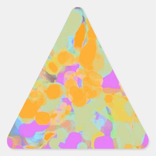Colorful and Beautiful Artist Design Triangle Sticker