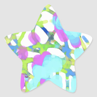 Colorful and Beautiful Artist Design Star Sticker