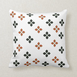 Colorful and black flowers cushion