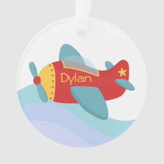 Colorful and Cute Cartoon Aeroplane for boys Ornament