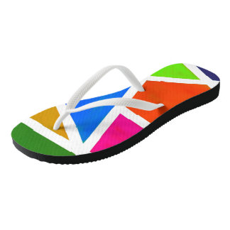 Colorful and diverse straps for adults, orange,blu flip flops