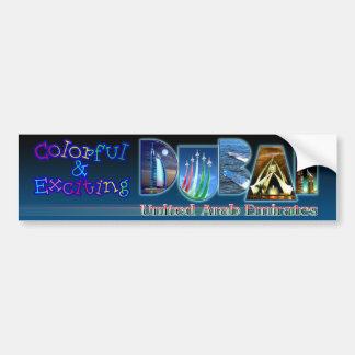 Colorful and Exciting Dubai Car Bumper Sticker