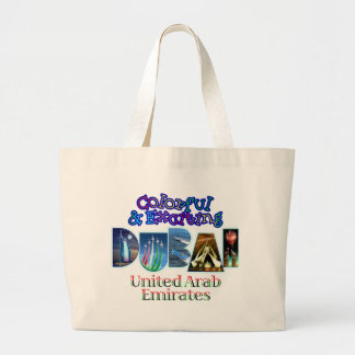 Colorful and Exciting Dubai Large Tote Bag