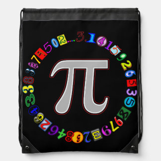 Colorful and Fun Circle of Pi Calculated Backpacks