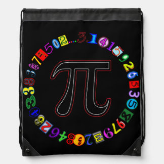 Colorful and Fun Circle of Pi Calculated Backpack