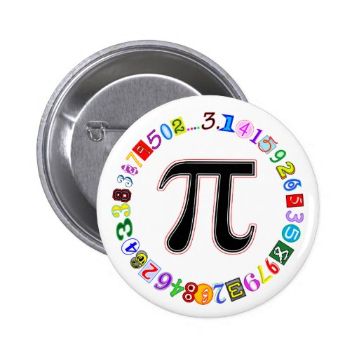 Colorful and Fun Circle of Pi Calculated Pin