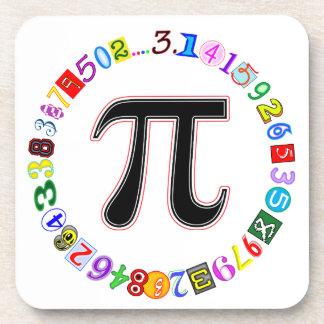 Colorful and Fun Circle of Pi Calculated Coaster