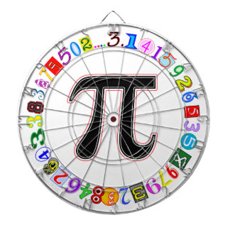 Colorful and Fun Circle of Pi Calculated Dartboard