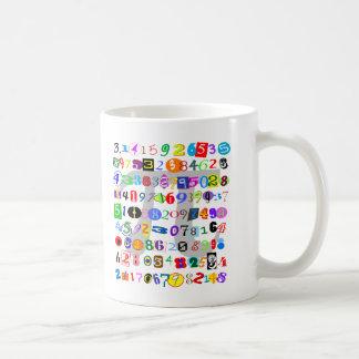 Colorful and Fun Depiction of Pi Basic White Mug