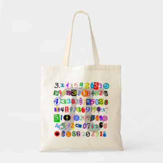 Colorful and Fun Depiction of Pi Budget Tote Bag