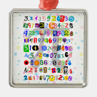 Colorful and Fun Depiction of Pi Christmas Ornament