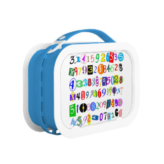 Colorful and Fun Depiction of Pi Lunch Boxes