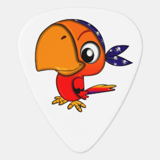 Colorful and Fun Pirate Parrot Plectrum