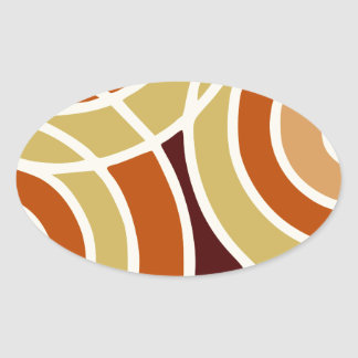 Colorful and Modern Oval Sticker