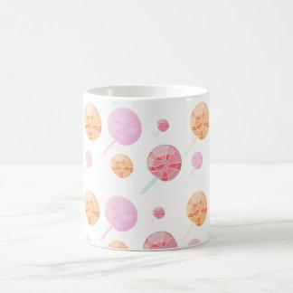Colorful and multicolored basic white mug