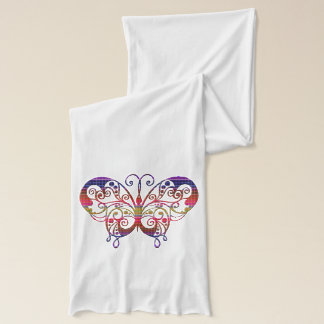 Colorful and ornate butterfly on jersey scarf