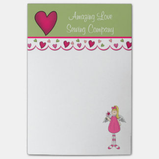 Colorful Angel and Hearts Note Pad