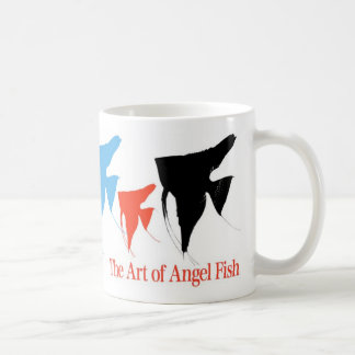 Colorful angel fish 2 basic white mug