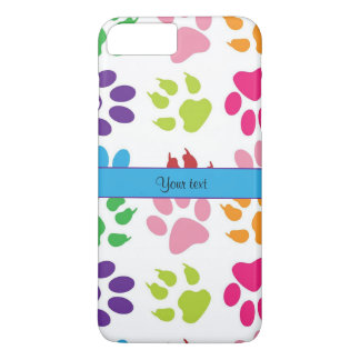Colorful Animal Paw Prints iPhone 7 Plus Case