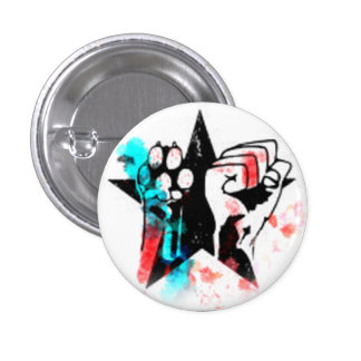 Colorful animal rights badge