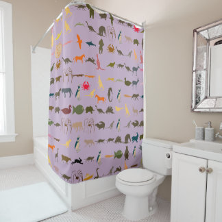 Colorful Animals Pattern #10 Shower Curtain