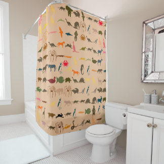 Colorful Animals Pattern #2 Shower Curtain