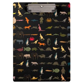Colorful Animals Pattern #5 Clipboard
