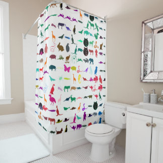 Colorful Animals Pattern #6 Shower Curtain