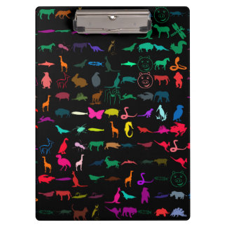 Colorful Animals Pattern Clipboard